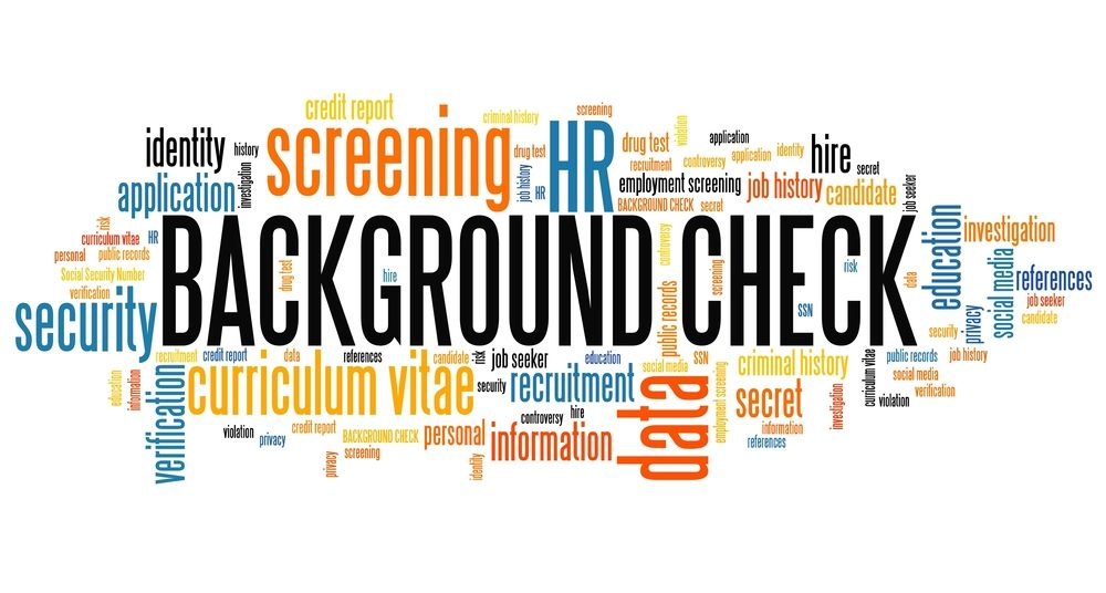 image showing the elements of background verification