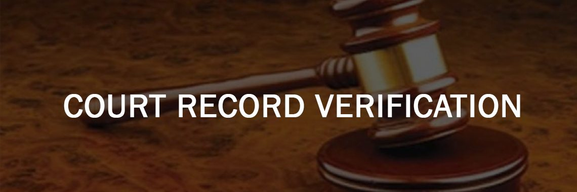 court record Background Verification